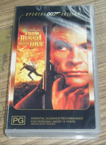 Vintage New Sealed VHS Movie - From Russia With Love (Special 007 Edition)