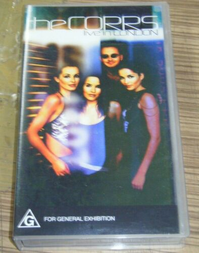 Vintage New Sealed VHS Movie - The Corps LIVE In London