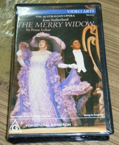 Vintage New Sealed VHS Movie - The Australian Opera: The Merry Widow [V1]