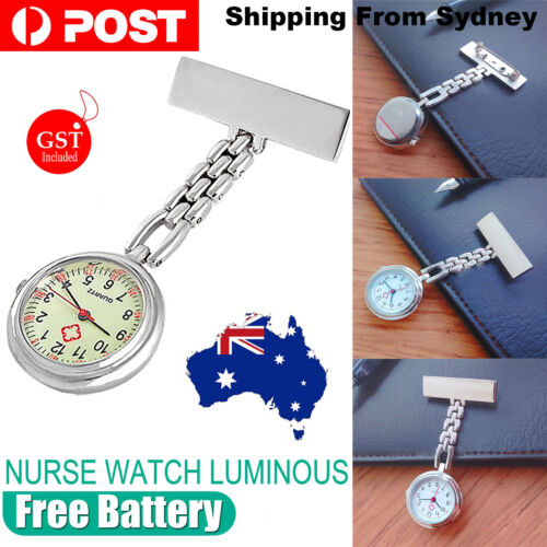 Nurse Nursing Metal Watch Luminous Glow in the Dark Face Pendant Fob Pocket SYD