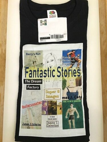 """2019 MegaCon """" Fantastic Stories """" Black T-Shirt Mens Size L Brand New with Tags"""