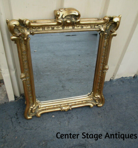52758 TIMELESS REFLECTIONS Gold Decorator Beveled Mirror QUAILTY