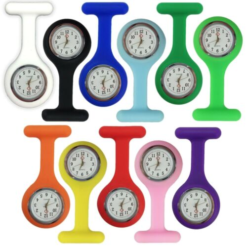 Silicone Nurse Watch Brooch Tunic Fob Nursing Nurses Pendant Pocket Watch