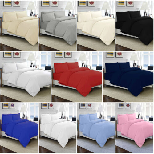 100% EGYPTIAN COTTON DUVET QUILT COVER SET SINGLE DOUBLE KING SIZE BED SHEETS <br/> Premium Soft Quality - Free P&P - Fast Shipping