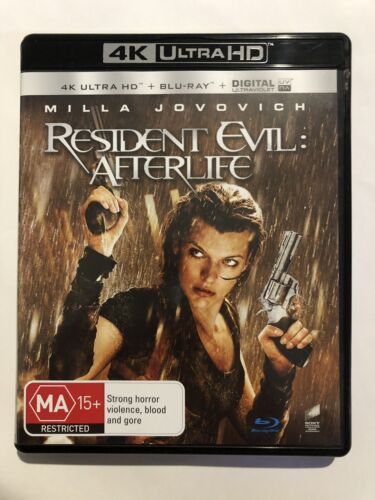 Resident Evil Afterlife (4K UHD & Blu Ray, 2-Discs) VGC Rated MA15+ Multi Region