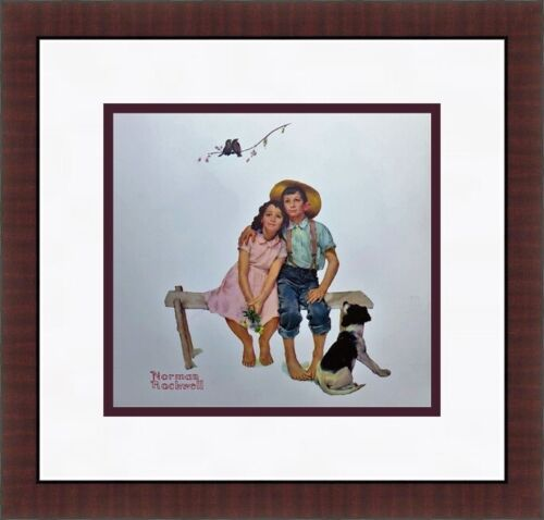 Norman Rockwell - Sweet Serenade Framed Print FREE SHIPPING