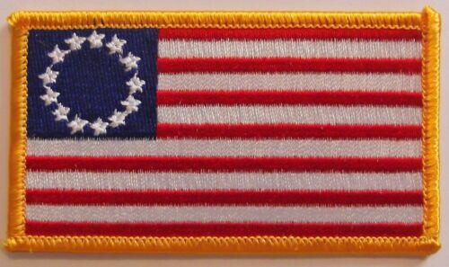 NEW BETSY ROSS PATCH - PATRIOT - AMERICAN REVOLUTION VEST PATCH - 13 STARSOther Militaria (Date Unknown) - 66534