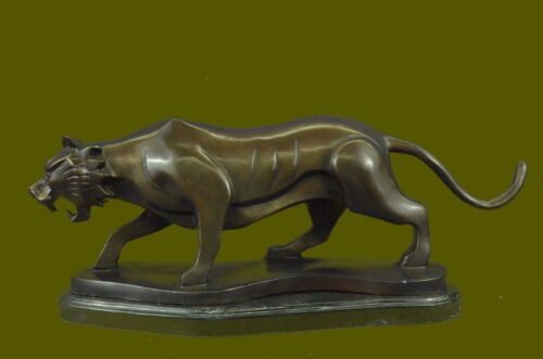 Wildlife Tigre Bronzo Scultura Abstract Moderno Henry Moore Tributo Arte T