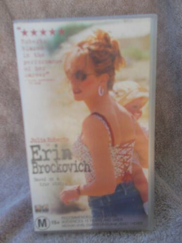 ERIN BROCKOVICH(No CST 30598)JULIA ROBERTS M VHS TAPE (LIKE NEW)