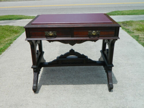 Small Walnut Eastlake Desk Lamp Table circa 1880