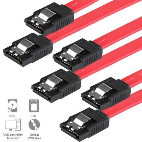 Advanced SATA Cable Straight Plugs 6'' Long 6Gb/s for 3.5'' Internal Bare Drive