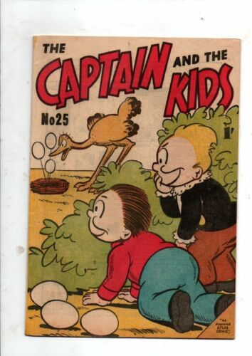 CAPTAIN AND THE KID'S    No 25  by ROTARY COLORPRINT  195Os   V FINE  CONDITION