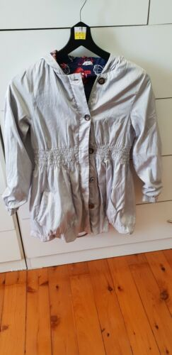 JACK & MILLY Girls Silver Hooded Bubble Jacket Size 8