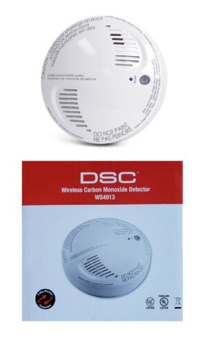 DSC WS4913 Wireless Carbon Monoxide Mfg 2018 / Replace 5yrs From Install WS4933