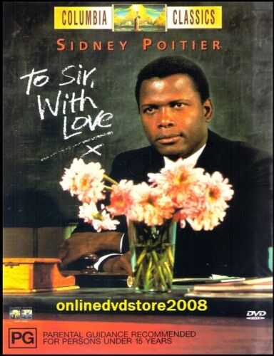 TO SIR, WITH LOVE (Sidney POITIER Judy GEESON) CLASSIC Drama Film DVD Region 4