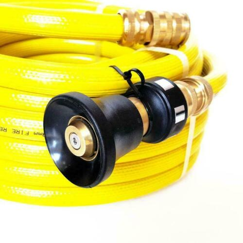FIRE FIGHTING REEL YELLOW HOSE PIPE PUMP 20mm 3//4 x 10m COIL SAFETY Australian
