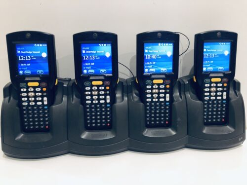 4 x Motorola Symbol Zebra MC3190 Handheld Rugged 1D Scanner PDA MC3190-S +Cradle
