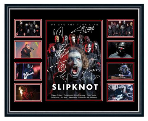SLIPKNOT 2019 WE ARE NOT YOUR KIND TOUR SIGNED LIMITED EDITION FRAME MEMORABILIA