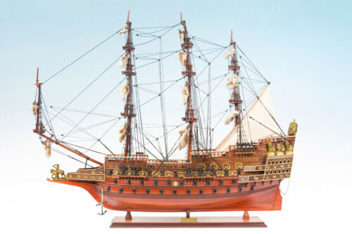 SEACRAFT GALLERY Wooden Model Ship SOVEREIGN OF THE SEAS 95cm Completed