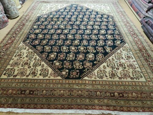 9' X 11' Fine Hand Made Indian Agra Rug Boteh Paisley Design Carpet Wow