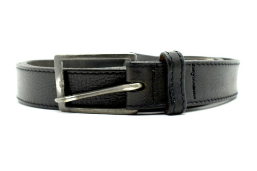 Eddie Bauer Vintage Mens Leather Belt Black Size 40