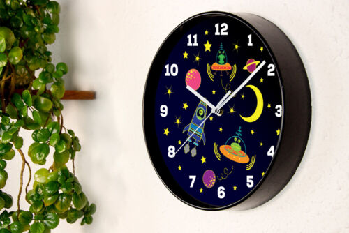 Walplus Baby Boys Room Happy Galaxy Children Clock Home Decorations Bedroom DIY