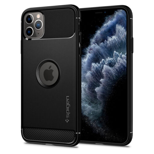 iPhone 11, 11 Pro, 11 Pro Max Case | Spigen® [Rugged Armor] Matte Black Cover