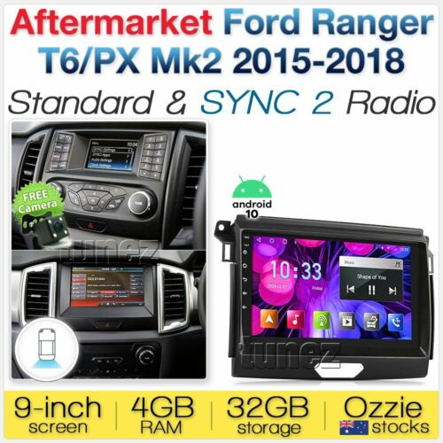 "9"" Android Car MP3 Player For Ford Ranger T6 PX 2015-2018 MK2 GPS Stereo Radio Z"