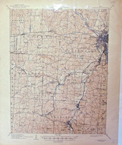 USGS 15' Zanesville, OH topographic map.  January 1910 edition.