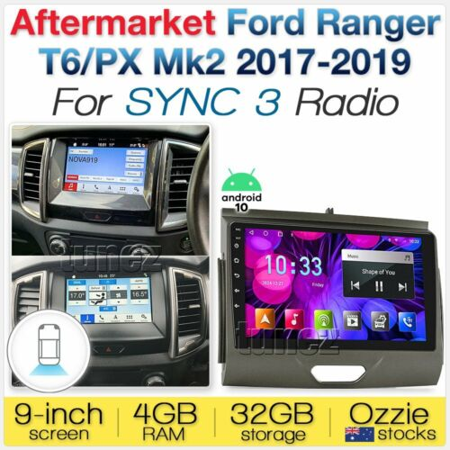 "9"" Android Car MP3 Player GPS For Ford Ranger T6 PX MK2 2016-2017 SYNC Radio MP4"