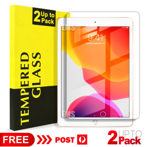 """Apple iPad 7th Gen 10.2"""" 6th 5th Generation Tempered Glass Screen Protector Film"""
