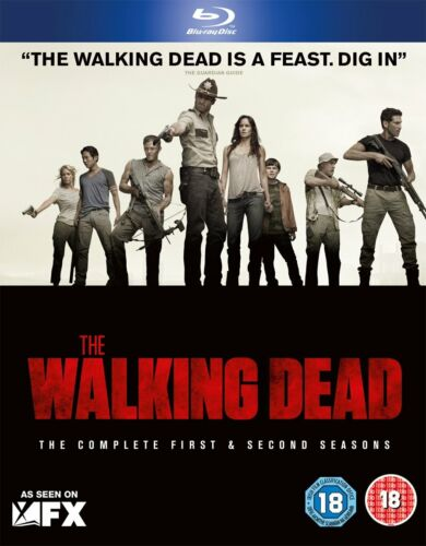 The Walking Dead Complete Seasons Series 1 & 2 TV Show Blu-Ray Set NEW Zombies