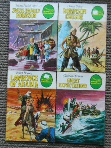 King Classics Illustrated comics x 4  from 1979 Charles Dickens, Daniel Defoe +