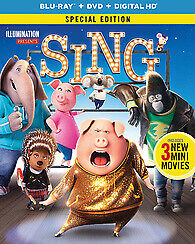 Sing (2016 Animated) (2 Disc, Blu-ray + DVD, Special Edition) BLU-RAY US IMPORT