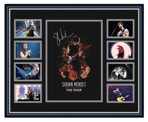 SHAWN MENDES THE TOUR 2019 SIGNED PHOTO LIMITED EDITION FRAMED MEMORABILIA