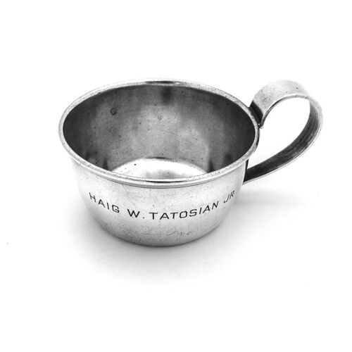 Arts And Crafts Baby Cup Porter Blanchard Sterling Silver Inscribed