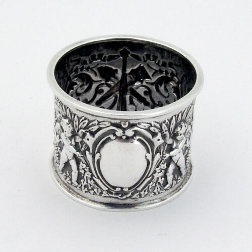 Renaissance Revival Napkin Ring Boyton II Sterling 1895 London