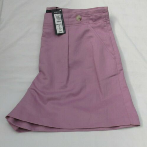 LADIES MARKS AND SPENCER LILAC LINEN RICH SHORTS SIZE 20