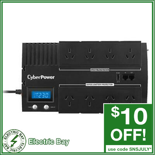 1000VA CyberPower UPS BR1000ELCD 8 Way Uninterruptible Power Supply