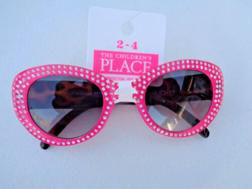 NEW The Children's Place Sunglasses Baby Toddler Girls 2 4 Pink Cheetah Sparkle
