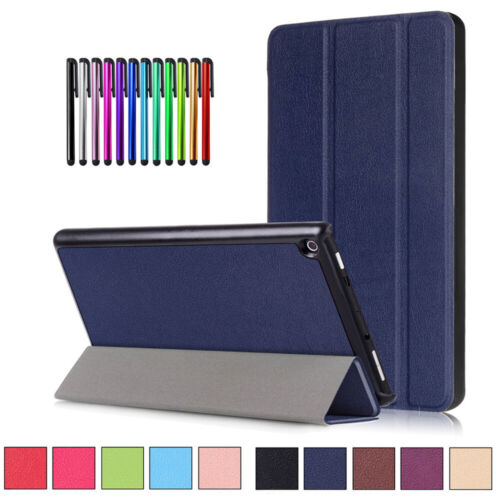 For Amazon Kindle Fire HD 8 Tablet Leather Smart Case Magnetic Stand Slim Cover