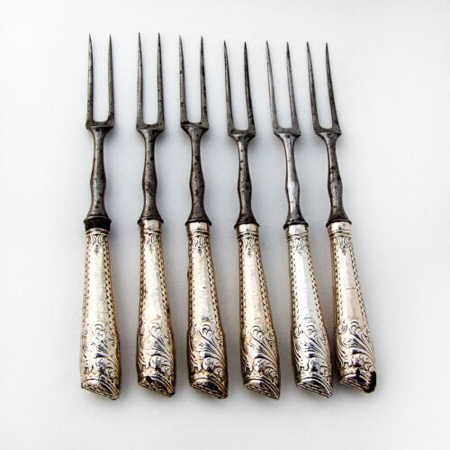 Irish 18th Century Game Forks Set Sterling Silver