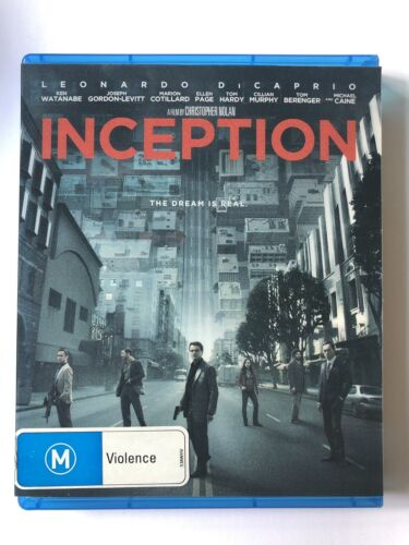 Inception (Blu-Ray, 3-Discs) VGC Rated M Christopher Nolan DiCaprio Slip Insert