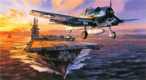 Scramble for the Marianas by Nicolas Trudgian - signed by USN Hellcat Aces