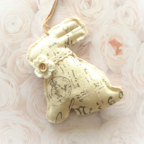 Primitive Shabby Cottage Chic Bunny Rabbit Ornies Bowl Fillers Tuck Decor Gift