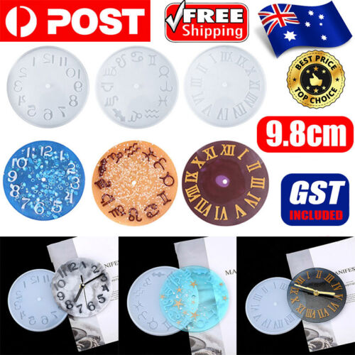 1X Silicone Mold Making jewelry big Clocks Resin Mould handmade Casting Craft AU