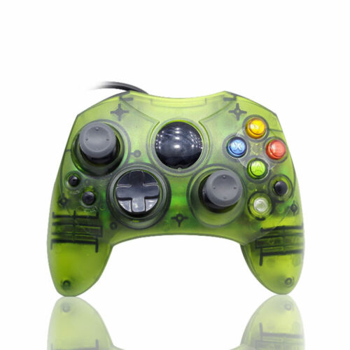 XBOX CONTROLLER CLEAR GREEN FOR THE ORIGINAL MICROSOFT XBOX BRAND NEW GAMEPAD