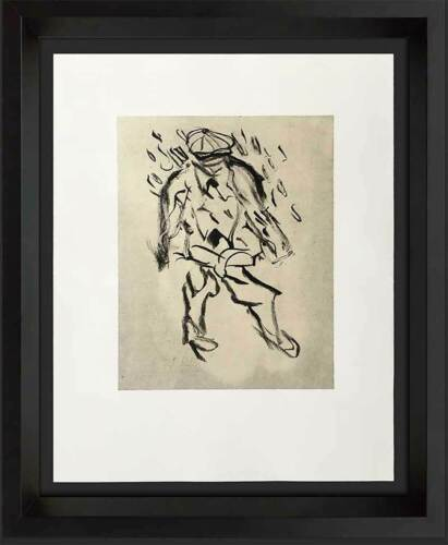 "Willem DE KOONING Lithograph ORIGINAL""Man without a country"" Ltd.EDITION"
