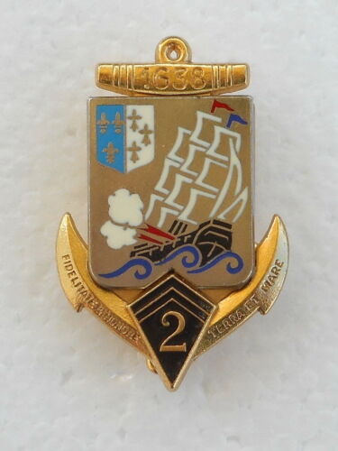 OLD ORIGINAL FRENCH  2nd REGT.  MARINE  BADGEOther Militaria (Date Unknown) - 66534
