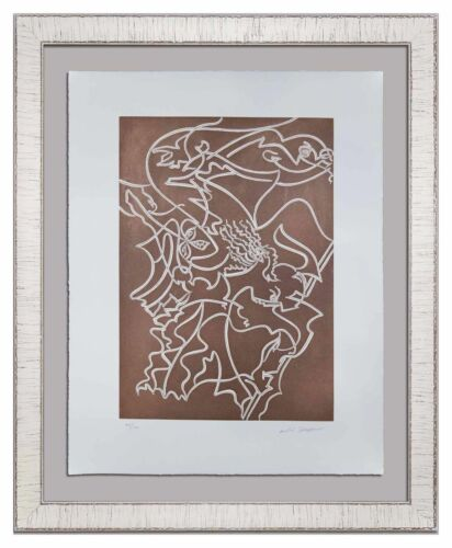 """Andre MASSON Original ETCHING Hand SIGNED* & Numb + """"ATHENA"""" w/ Frame"""